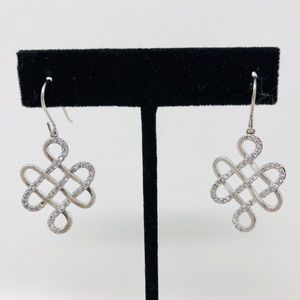 Jewelry - 🆕 brushed sterling silver, CZ earrings, 6.1g